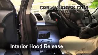 Open Hood How To 2007-2010 Mitsubishi Outlander