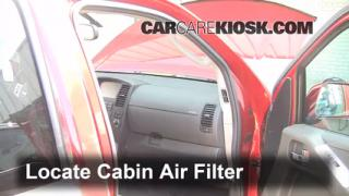 2005-2012 Nissan Pathfinder Cabin Air Filter Check