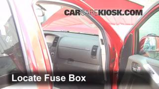 Interior Fuse Box Location: 2005-2012 Nissan Pathfinder