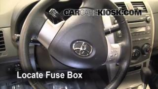 Interior Fuse Box Location: 2009-2013 Toyota Corolla