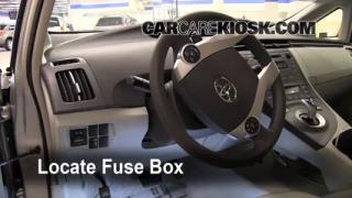 Interior Fuse Box Location: 2010-2013 Toyota Prius