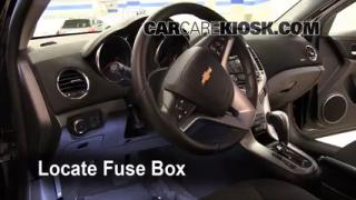 Interior Fuse Box Location: 2011-2013 Chevrolet Cruze