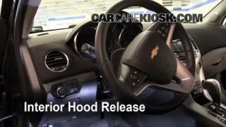 Open Hood How To 2011-2013 Chevrolet Cruze
