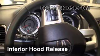 Open Hood How To 2011-2013 Dodge Durango