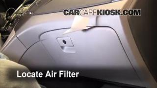 2011-2013 Hyundai Sonata Cabin Air Filter Check