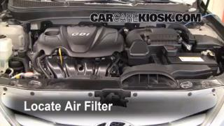 2011-2013 Hyundai Sonata Engine Air Filter Check