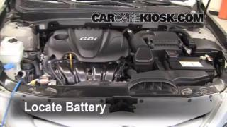 Battery Replacement: 2011-2013 Hyundai Sonata