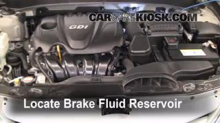 Add Brake Fluid: 2011-2013 Hyundai Sonata