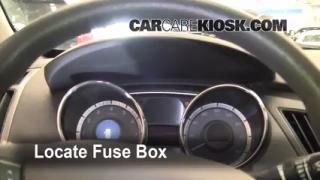Interior Fuse Box Location: 2011-2013 Hyundai Sonata