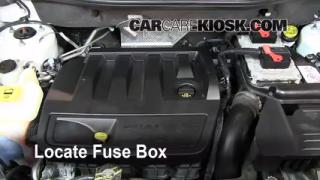 2007-2012 Dodge Caliber Interior Fuse Check
