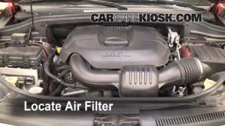 2011-2013 Jeep Grand Cherokee Engine Air Filter Check