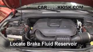 2011-2013 Jeep Grand Cherokee Brake Fluid Level Check
