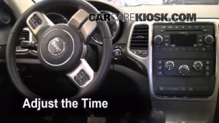How to Set the Clock on a Jeep Grand Cherokee (2011-2013)