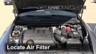 2009-2013 Lincoln MKS Engine Air Filter Check