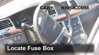 Interior Fuse Box Location: 2009-2013 Lincoln MKS