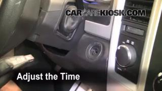 How to Set the Clock on a Ram 1500 (2011-2014)
