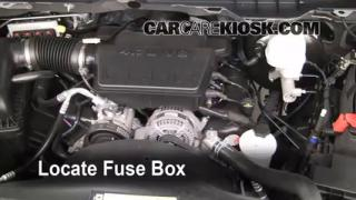 Interior Fuse Box Location: 2011-2013 Ram 1500