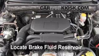 2010-2013 Subaru Legacy Brake Fluid Level Check