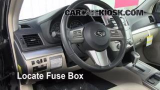 Interior Fuse Box Location: 2010-2013 Subaru Legacy