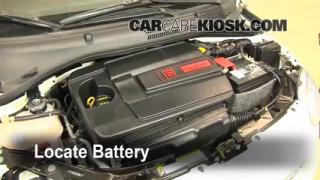 Battery Replacement: 2012-2013 Fiat 500