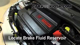 2012-2013 Fiat 500 Brake Fluid Level Check