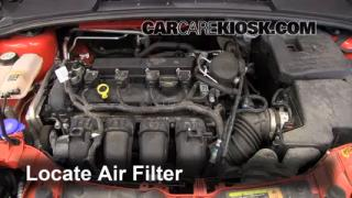 2012-2013 Ford Focus Engine Air Filter Check
