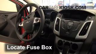 Interior Fuse Box Location: 2012-2013 Ford Focus