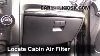 Cabin Filter Replacement: Kia Sorento 2011-2011