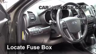 Interior Fuse Box Location: 2011-2011 Kia Sorento