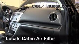 2009-2013 Mazda 6 Cabin Air Filter Check