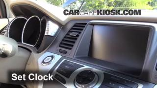 How to Set the Clock on a Nissan Murano (2009-2014)