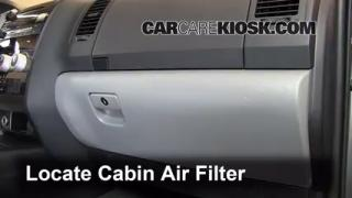 2008-2013 Toyota Sequoia Cabin Air Filter Check