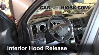 Open Hood How To 2008-2013 Toyota Sequoia