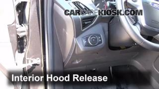 Open Hood How To 2013-2014 Ford Escape