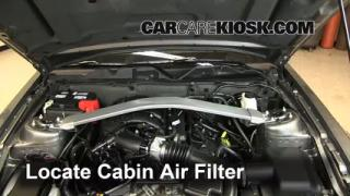2010-2013 Ford Mustang Cabin Air Filter Check