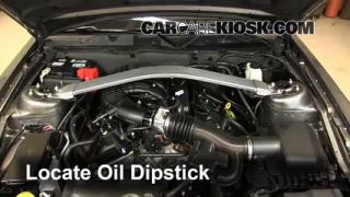 Check Oil Level 2010-2013 Ford Mustang