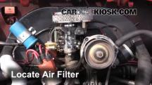 1976 Volkswagen Beetle 1.6L 4 Cyl. Convertible Filtro de aire (motor)