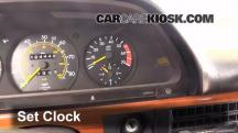 1981 Mercedes-Benz 380SEL 3.8L V8 Sedan (4 Door) Clock