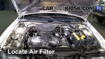 1991 Mazda 323 BG-series 1.3L 4 Cyl. Filtro de aire (motor)
