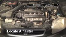 1997 Honda Civic LX 1.6L 4 Cyl. Filtro de aire (motor)