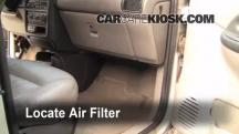 1998 Pontiac Trans Sport Montana 3.4L V6 (4 Door) Filtro de aire (interior)
