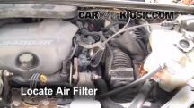 1998 Pontiac Trans Sport Montana 3.4L V6 (4 Door) Filtro de aire (motor)