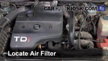 1998 SEAT Toledo TDI SE 1.9L 4 Cyl. Turbo Diesel Filtro de aire (motor)