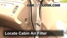 1999 Honda Accord LX 3.0L V6 Sedan (4 Door) Air Filter (Cabin)