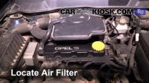 1999 Opel Astra Elegance 1.6L 4 Cyl. Air Filter (Engine)