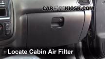 2000 Honda CR-V EX 2.0L 4 Cyl. Filtro de aire (interior)