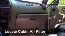 2000 Hyundai Sonata GLS 2.5L V6 Filtro de aire (interior)