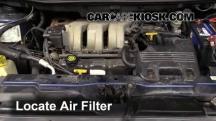 2000 Plymouth Voyager 3.3L V6 Filtro de aire (motor)