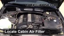 2001 BMW 325i 2.5L 6 Cyl. Sedan Filtro de aire (interior)