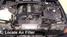 2001 BMW 325i 2.5L 6 Cyl. Sedan Filtro de aire (motor)